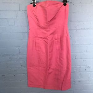 Fun candy pink strapless dress by J. Crew